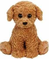 Huisdieren knuffels honden bruin ty beanie luke