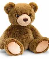 Keel toys pluche donkerbruine beren knuffel 10140936