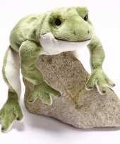 Kikker knuffeltje groen wit