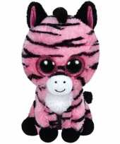 Knuffel beanie zoey zebra