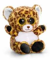 Knuffel luipaardje glitter ogen