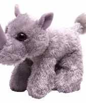 Knuffel pluche neushoorn grijs