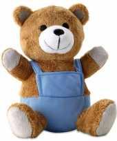 Knuffelbeer blauwe kleertjes