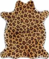Luipaard nep dierenvel kleed plaid knuffel