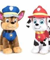 Paw patrol knuffels set karakters chase marshall 10247277