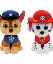 Paw patrol knuffels set karakters chase marshall