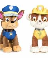 Paw patrol knuffels set karakters chase rubble 10247275