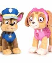 Paw patrol knuffels set karakters chase skye 10247274