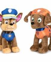 Paw patrol knuffels set karakters chase zuma 10247495