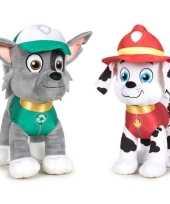 Paw patrol knuffels set karakters rocky marshall