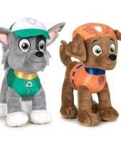 Paw patrol knuffels set karakters rocky zuma 10247505