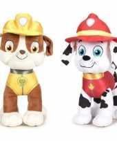 Paw patrol knuffels set karakters rubble marshall 10247278