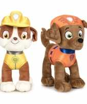 Paw patrol knuffels set karakters rubble zuma 10247509