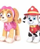 Paw patrol knuffels set karakters skye marshall