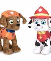 Paw patrol knuffels set karakters zuma marshall