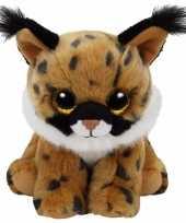 Pluche knuffel lynx ty beanie larry