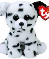 Pluche ty beanie dalmatier honden knuffel spencer
