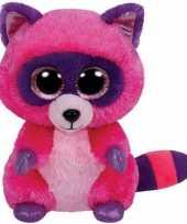 Ty beanie knuffel roze wasbeer