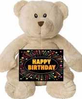 Verjaardag knuffel beer gratis verjaardagskaart
