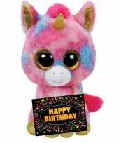 Verjaardag knuffel eenhoorn gratis verjaardagskaart 10105494
