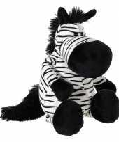 Zwart witte pluche zebra knuffel